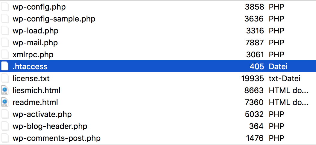 htaccess Datei für 301 Weiterleitung in WordPress einrichten