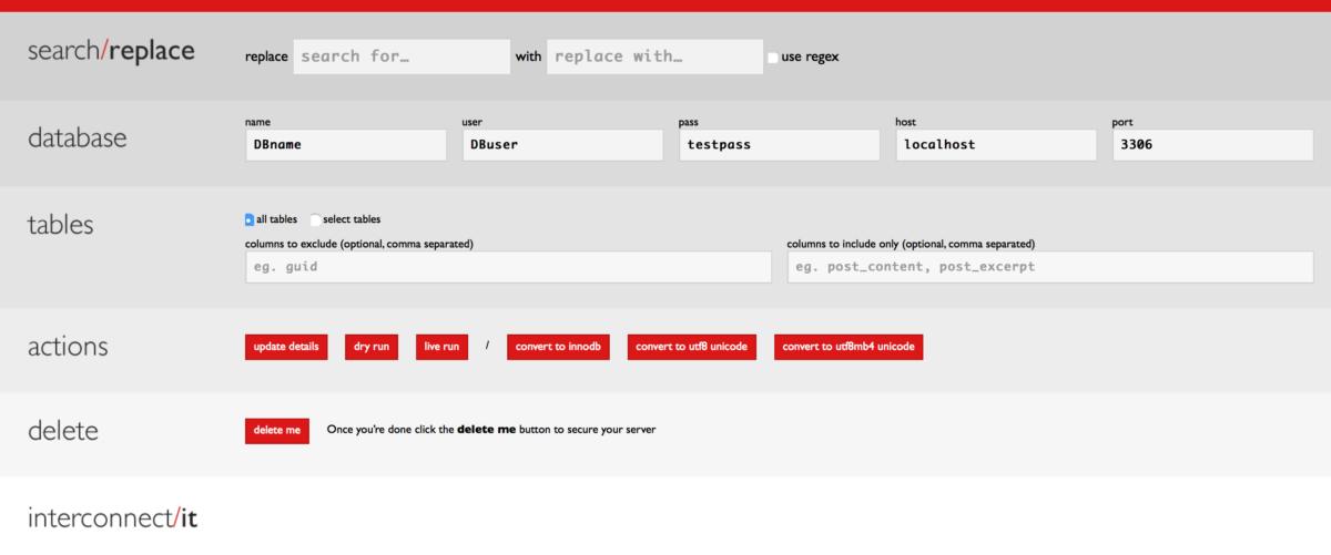 Das Search and Replace Tool bietet ein übersichtliches GUI für die einfache Benutzung