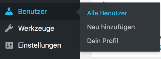 Benutzerrollen durch Benutzerverwaltung ändern