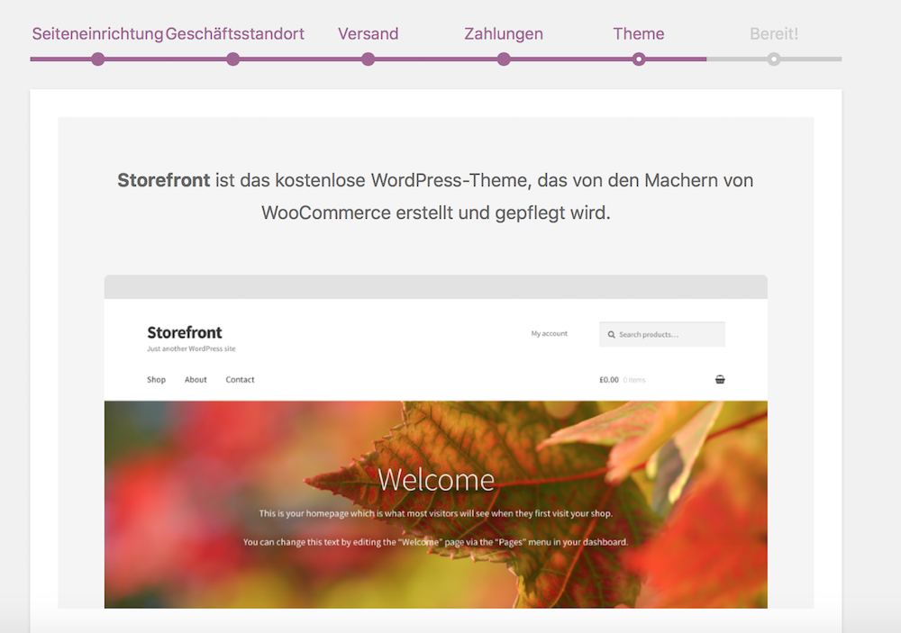 WooCommerce Theme Storefront