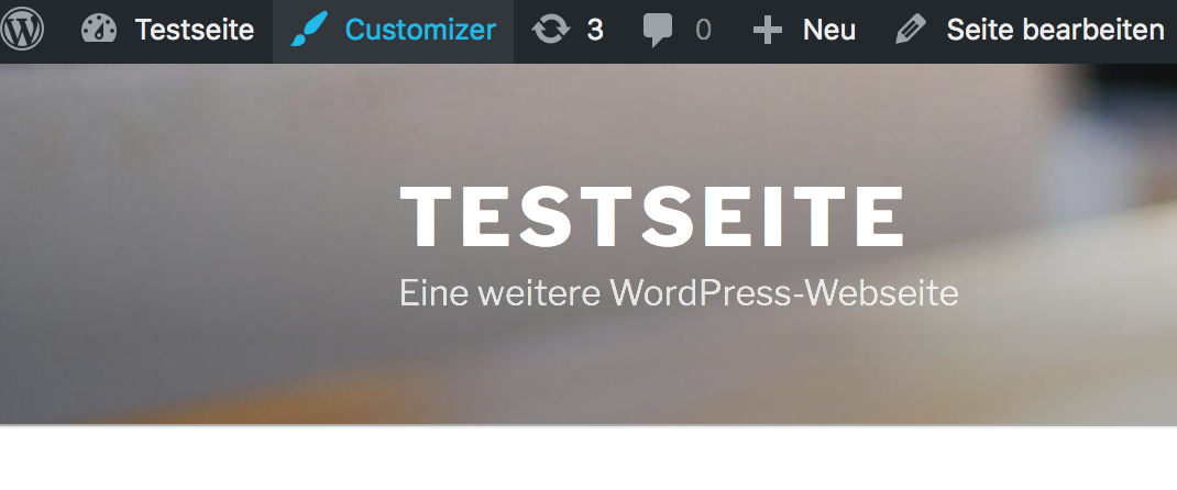 WordPress Customizer aktivieren