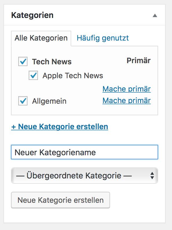 WordPress Kategorie anlegen und zuordnen