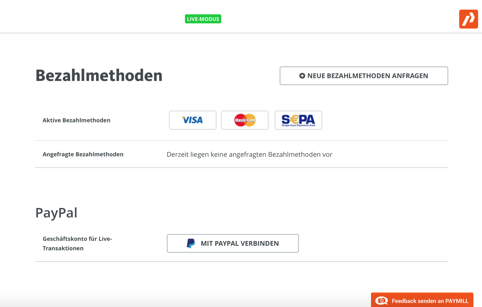 PayMill als PayPal-Zahlungslösung