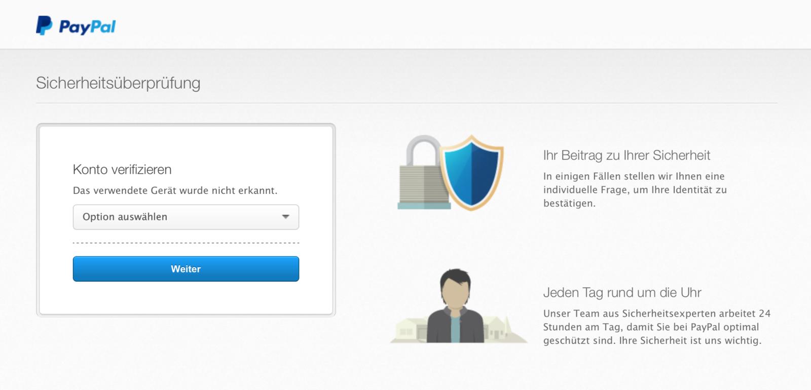 Email Paypal Konto Verifizieren