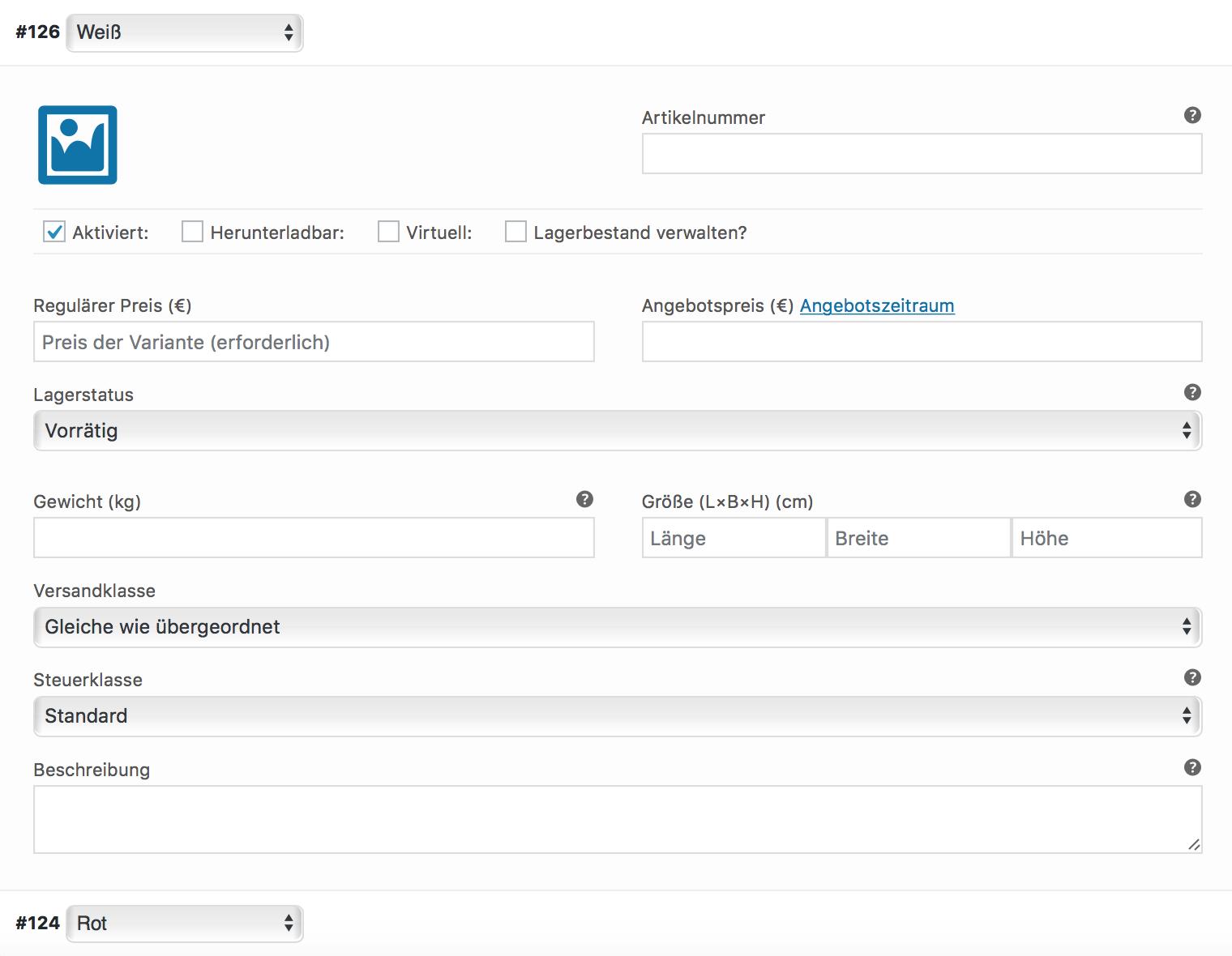 Individuelle Produktdaten für WooCommerce Produktvarianten festlegen