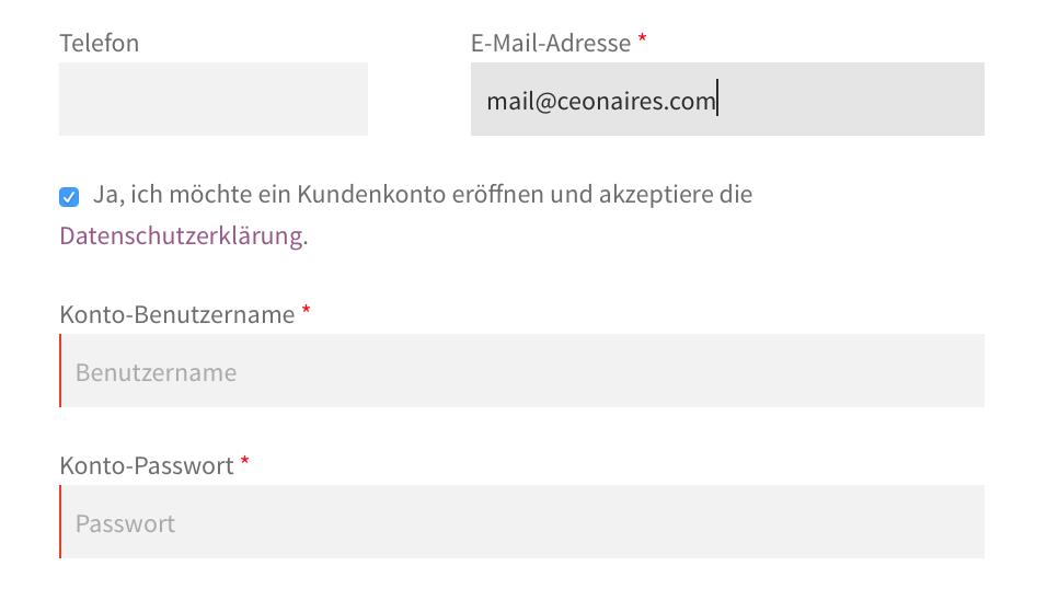 WooCommerce Kundenkonto automatisch bei einer Bestellung anlegen