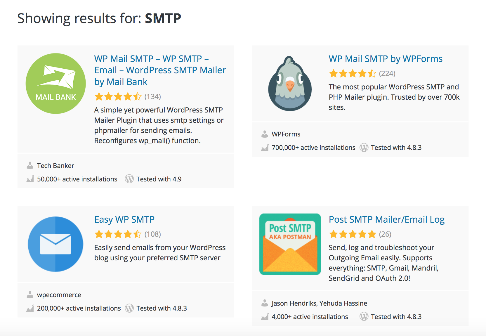 SMTP Mail WordPress Plugins