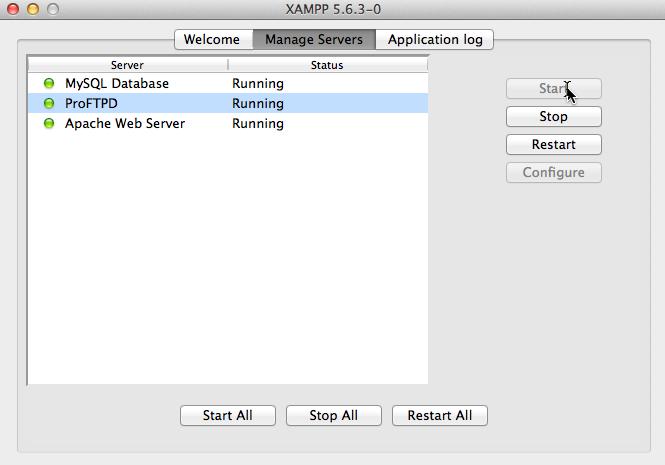 XAMPP Server starten