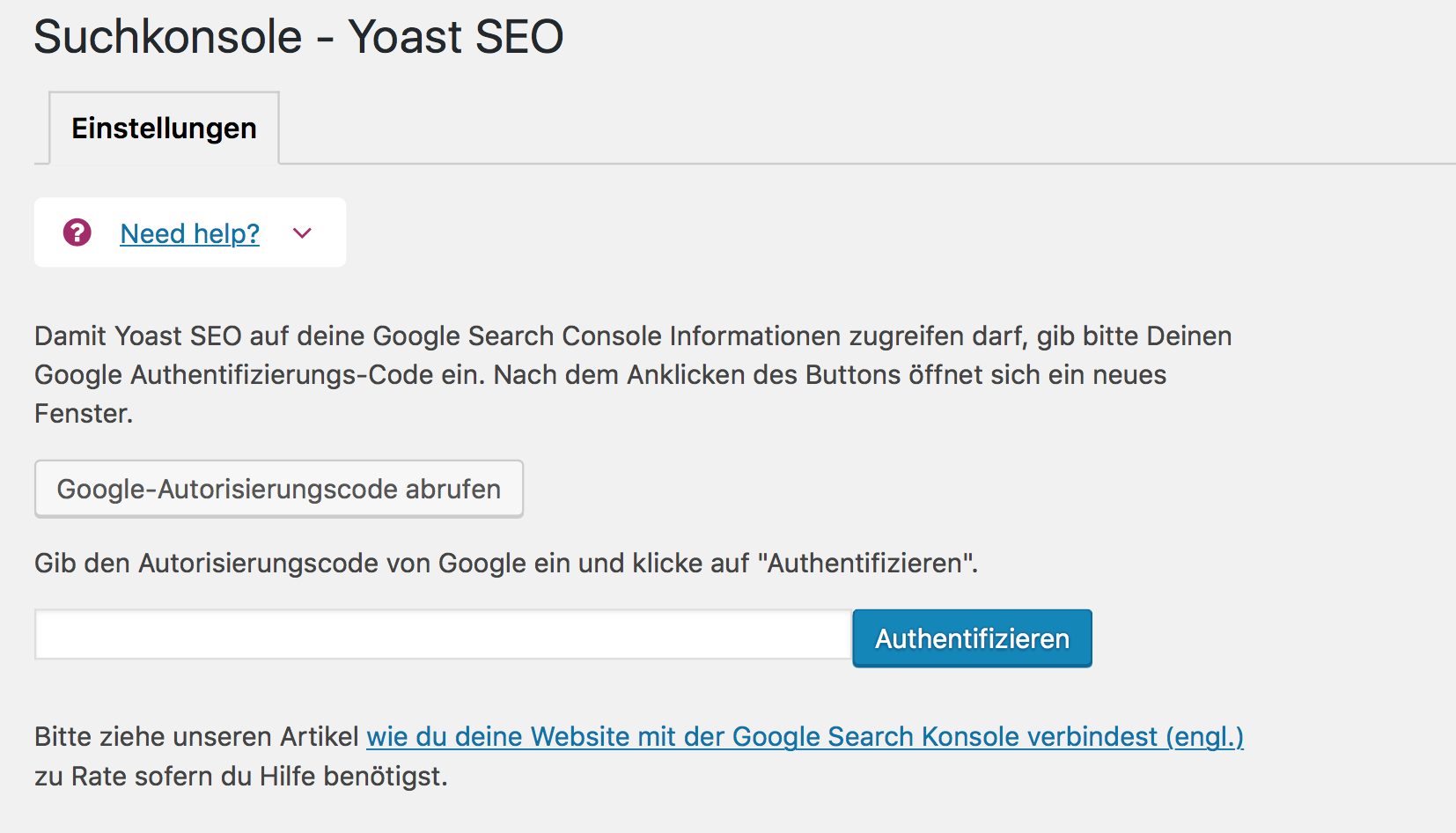 Yoast SEO Search Console
