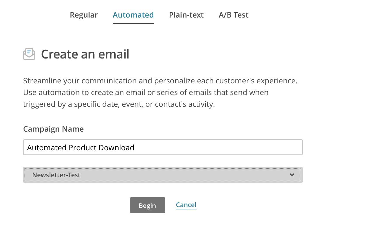Automatischer Newsletter Versand