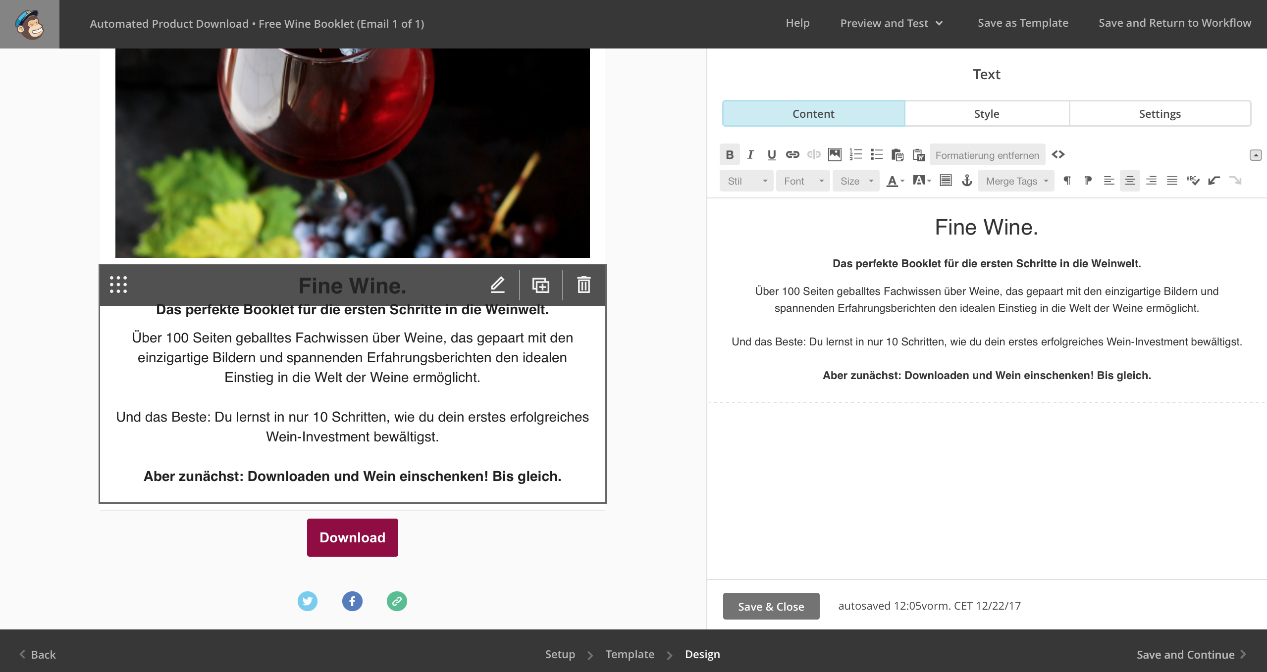 Fertig designtes Newsletter Template