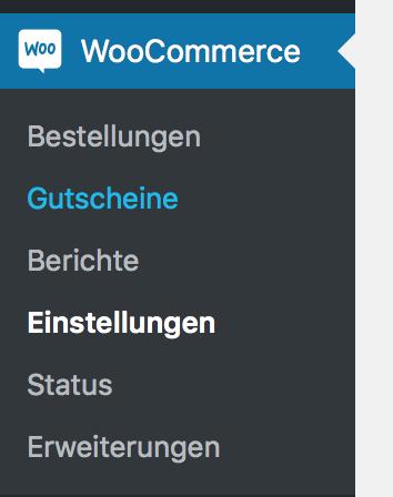 WooCommerce Gutscheine aktiviert und freigeschaltet